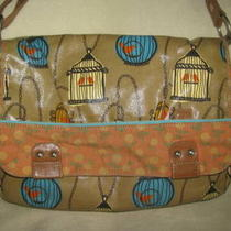 Fossil  Key-Per Zb4582 Laminated Printed Bird Cage Hobo Tote Purse Diaperbag Photo