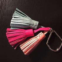 Fossil Key-Ring or Purse Fob- Sea Glass Apricot & Fuscia Trio Photo