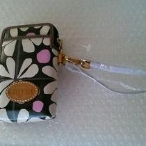 Fossil Keyper Carry All Smart Phone & Iphone Holder Black White Pink Floral Nwt Photo