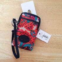 Fossil Keyper Carryall Red Floral Nwt Iphone Wallet Wristlet Photo