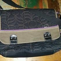 Fossil Keyper Crossbody Messenger Diaper Bag Book Bag or Purse. Black Photo