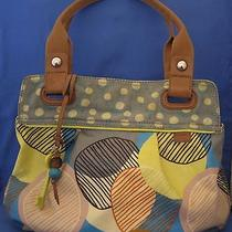 Fossil Keyper Hand Bag Purse With Fob Photo