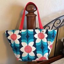 Fossil Keyper Horizontal Tote Blue and Red Floral Only at Macy's Nwt Photo