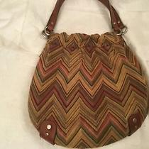 Fossil Keyper Purse  Canvas Medium  Tote Zig Zag Multicolored Pattern Photo
