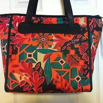 Fossil Keyper Shopper Floral Black Multi Tote Style Bag Zb5605919 Nwt Msrp 98 Photo