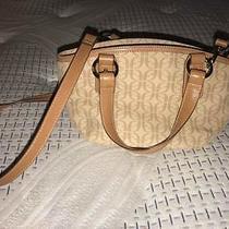 Fossil Khaki/tan Small Signature Handbag Satchel/cross Body Sl 8032 Photo