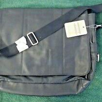 Fossil Kingston Ew Messenger Bag Black Leather Over Shoulder Looptop 158 Msrp Photo