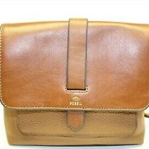 Fossil Kinley Small Leather Crossbody Saddle Bag Purse Zb6749 Photo