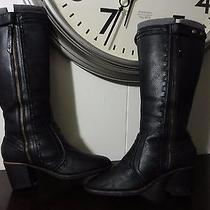 Fossil Knee High Boots Wool Lined Women's Size 10 Photo