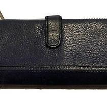 Fossil Ladies Blue Pebble Leather Wallet Photo