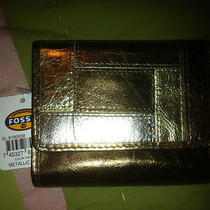 Fossil Ladies Metallic Multi Leather Wallet  New With Tags Photo