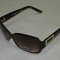 Fossil Ladies Sunglasses Brown Frames New With Tag 100% Uv Protection Photo