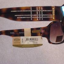 Fossil Ladies Sunglasses Opal Tortoise Bling New Tag Ps3605224 Flex Omatic Hinge Photo