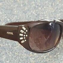Fossil Lainey Brown Genstone Edge Designer Sunglasses Eye Cover Eye Protection Photo