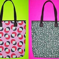 Fossil Lakewood 2-Side Nylon Tote Hand/shoulder Book Bag Purse Graphic Dots/camo Photo