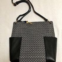Fossil Lane Black Stripe Crossbody  Messenger  Bag New Photo