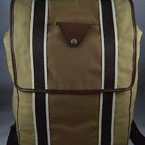 Fossil Lane Collection Mens Bag Rucksack Backpack Khaki Photo