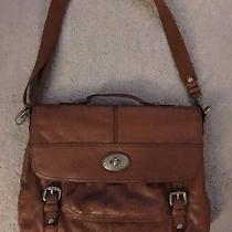 Fossil Laptop Messenger Bag Brown Leather Laptop Photo