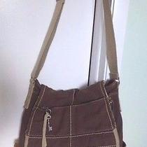 Fossil Large Brown Canvas Messenger Cross-Body Book School Work Tote Laptop Case Photo