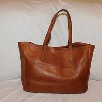 Fossil Large Brown Leather Tote Purse Photo