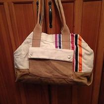 Fossil Large Canvas Lena Tote Travel Book or Diaper Bag Photo