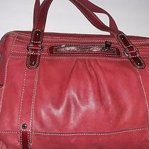 Fossil Large Red Leather Tote Photo