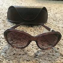 Fossil Large Round Sunglasses Nwt and 2 Cases Photo
