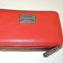 Fossil Lauren Large Jewelry Box in Red Nwt Photo
