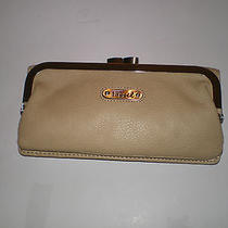 Fossil Layla French Khaki Pebbled Leather Clutch Wallet Photo