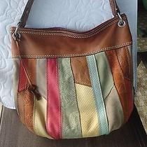 Fossil Leather and Suede Hand Bag Photo