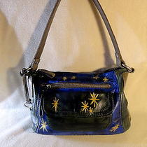 Fossil Leather Art Bag Painted by Daria Starlite 1 of a Kind Photo