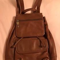 Fossil Leather Backpack 75082 Excellent Condition Photo