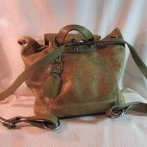 Fossil Leather Backpack- Olive Green Photo
