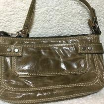 Fossil Leather Bag Small Clutch Attached Strap Zip Pockets Mini Pursetan New Photo