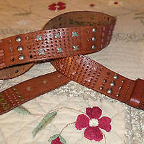 Fossil Leather Belt - Cognac Brown Size M Photo