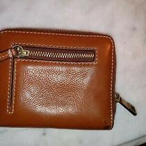 Fossil Leather Bi-Fold Wallet Zip Change Purse  Photo