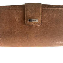 Fossil Leather Bifold Wallet With Insert Brown Photo