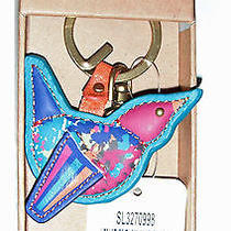 Fossil Leather Bird Key Chain Fob Boxed Photo