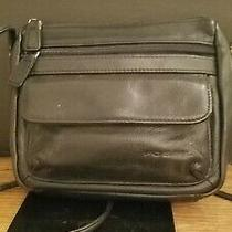 Fossil Leather Black Mini Zip Purse Photo