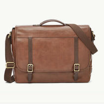 Fossil Leather Brown Evan Messenger Bag  Photo