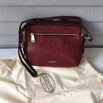 Fossil Leather Burgundy Piper Toaster Bag New Photo