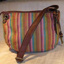 Fossil leather&canvas Cross Body(crossbody)bag Shoulder Bag Fossil Bag/purse Photo