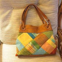 Fossil Leather & Canvas Large Handbag  Photo