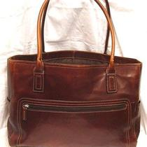 Fossil Leather Computer Laptop Bag Briefcase Tote Purse Photo