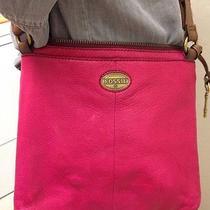 Fossil Leather Crossbody Bag Handbag Purse Dark Pink Photo