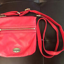Fossil Leather Crossbody Bag Purse - Nice Red - Nwot Photo