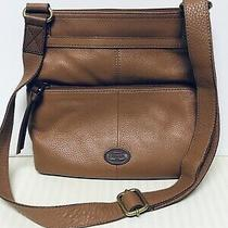 Fossil Leather Crossbody Messenger Bag Photo
