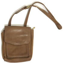 Fossil Leather Crossbody Messenger Bag Tan Purse With Adjustable Strap Photo