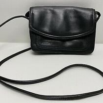 Fossil Leather Crossbody Purse Wallet Combo Id Credit Card Slots Zip Pockets Photo