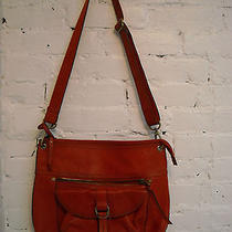 Fossil Leather Crossbody Shoulder Bag Hobo in Red  Photo